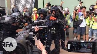 【8.24德福花園現場】警察進入私人商場範圍開槍/被民眾喝止