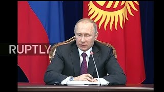 LIVE  Putin and Kyrgyzstan's President Atambayev hold joint press conference in Bishkek