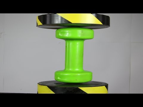 Experiment STEEL Dumbbell VS Hydraulic Press | The Crusher