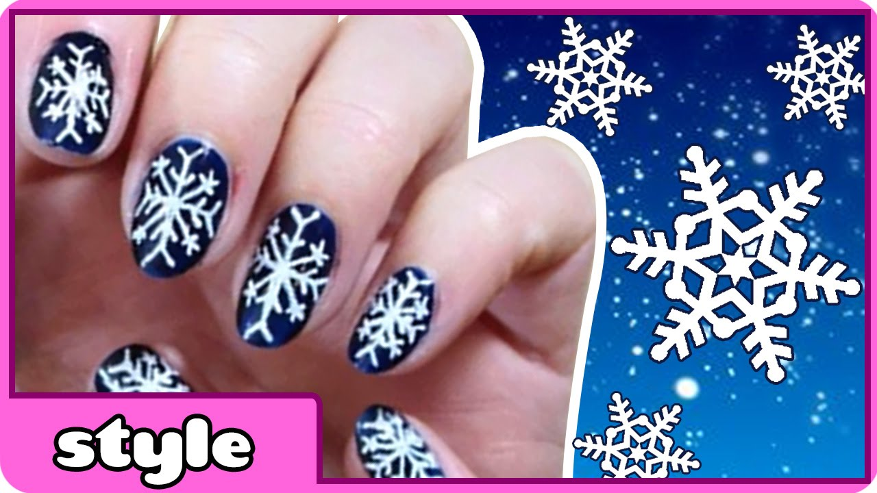 Diy snowflake nail art winter snowflake nails tutorial cute diy snowflake nail art winter snowflake nails tutorial cute and easy nail art designs youtube prinsesfo Image collections