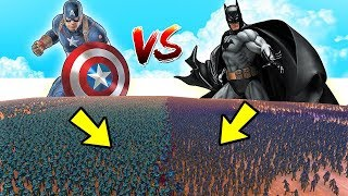 10.000 Batman (DC Comics)  Vs 10.000 Captain America (Marvel)| Ultimate Epic Battle Heroes Simulator