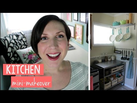 MINI KITCHEN MAKEOVER - Small Kitchen Organization - 동영상