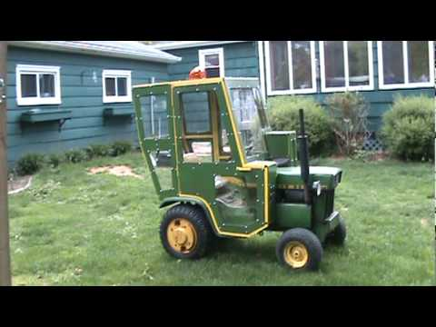 John Deere 110 Riding Around In Cab Youtube