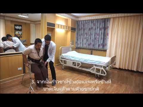 Gait training : การฝึกเดินในผู้ป่วยแขนขาอ่อนแรง
