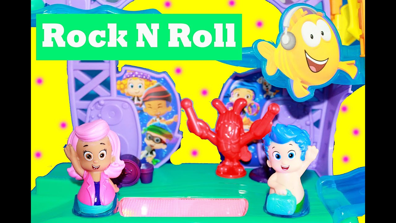 bubble guppies playset rock 39 n roll toy review set youtube. Black Bedroom Furniture Sets. Home Design Ideas