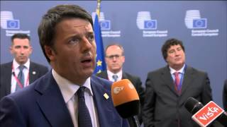 Doorstep by Matteo Renzi after the European Council of 23/24 October