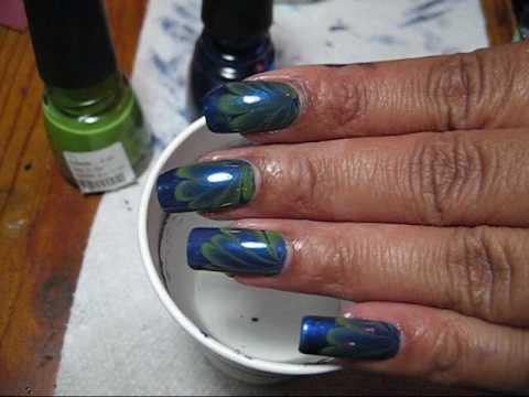 Seaweed Water Marble   DIY Nail Art Tutorial