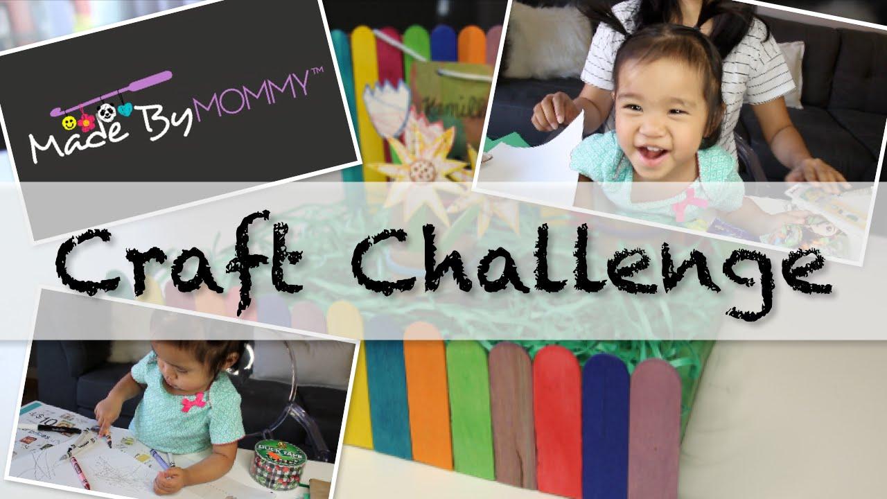 Easy Crafts With Kids Kids Garden Craft Challenge Youtube