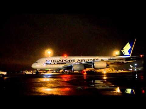 Singapore Airlines A380 Engine Start