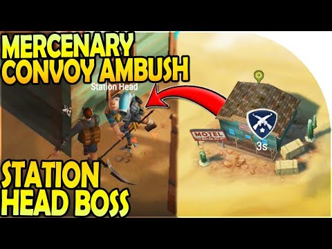 MERCENARY CONVOY AMBUSH + STATION HEAD BOSS - Desert Storm Zombie Survival Gameplay