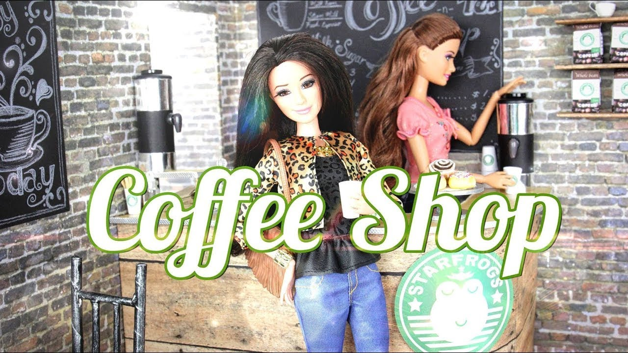 DIY   How To Make A Doll Coffee Shop   Handmade   Doll   Crafts   YouTube