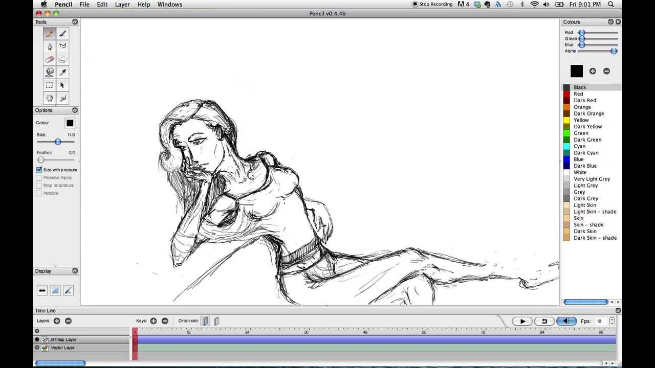 Pencil Animation Program -Test - YouTube