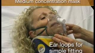 Oxygen mask. Medium concentration.