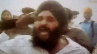 Sikhs Protest Against Hindu Terrorist Advani Inside The Harmandar Sahib Complex