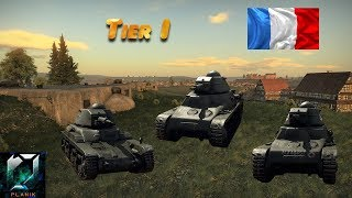 WAR THUNDER (tank) |  Les Chars de Réserve Francais (Tier I) ! (Gameplay  1.75)