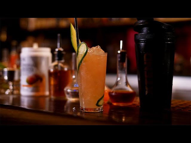 Cocktail Recipe | XTEND Mixology | Mango Muscle-Up [YouTube 動画] クリックで動画がスタンバイされ、もう1回クリックすると再生します