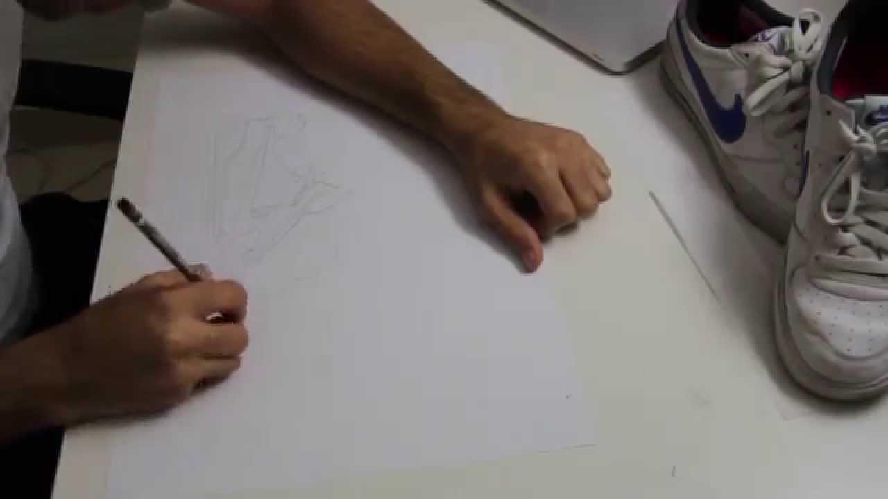 Contour Line Drawing Shoes Lesson Plan : Contour line drawing for a shoe youtube