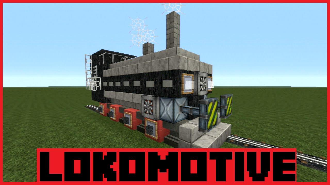minecraft tutorial dampflokomotive bauen deutsch. Black Bedroom Furniture Sets. Home Design Ideas