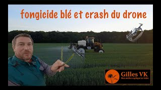 Protection des blés et crash du drone