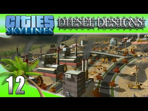 Cities: Skylines: EP12: Oil & Ore Industry Park! (City Building Series 60FPS)