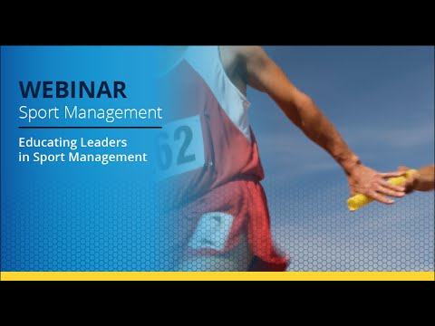 Be a leader in Sport Management