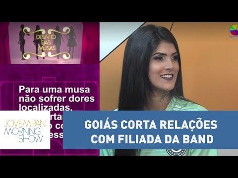 Em defesa de musa, Goiás corta relações com filiada da Band