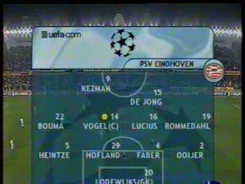 Galatasaray 2-0 PSV (Şampiyonlar Ligi - 30 Ekim 2001)