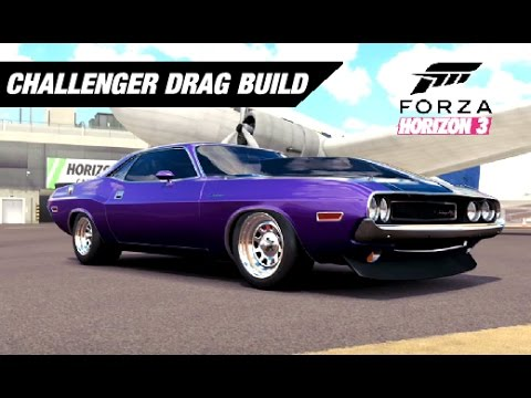 Classic Challenger Drag Build Forza Horizon Youtube
