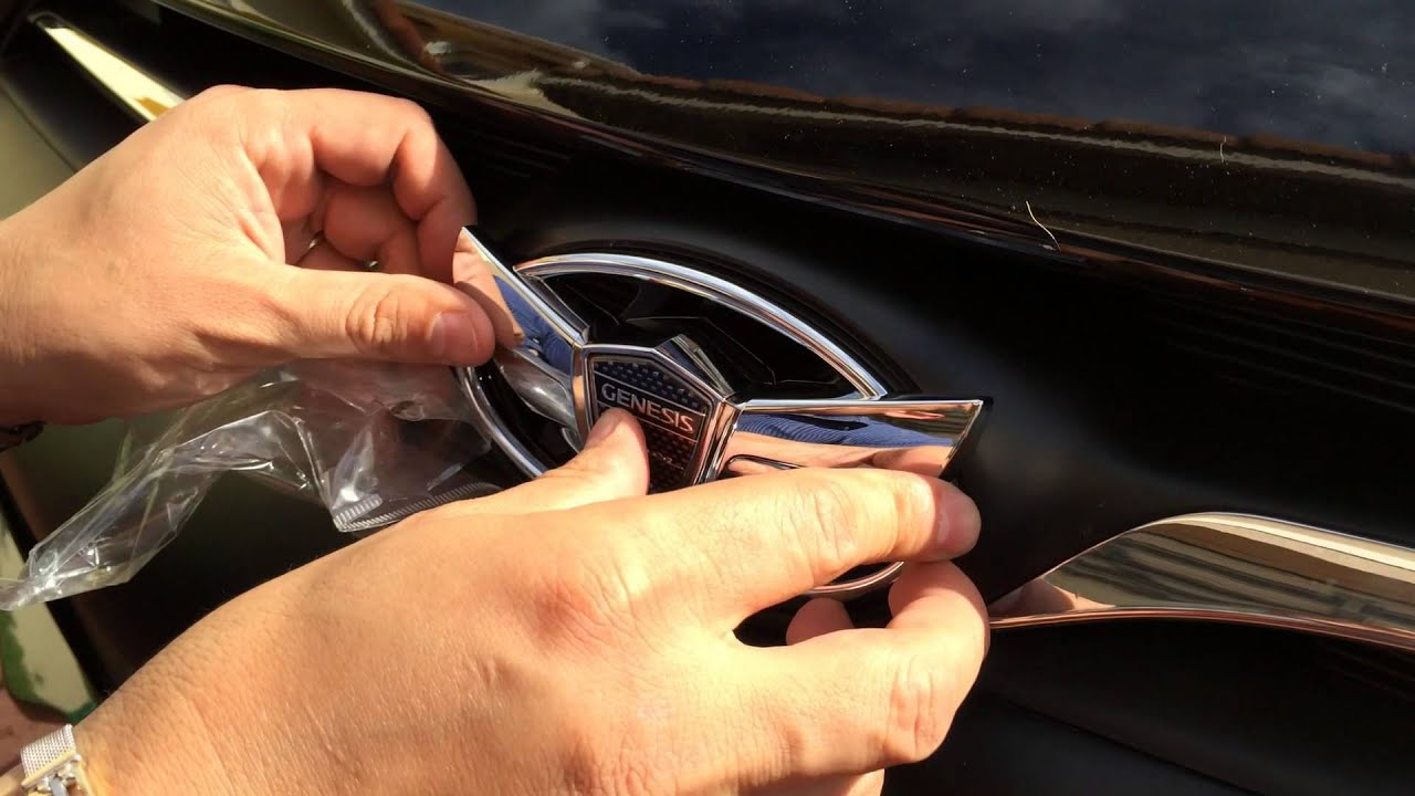 2013 Genesis Coupe Wing Emblem Front Install Youtube