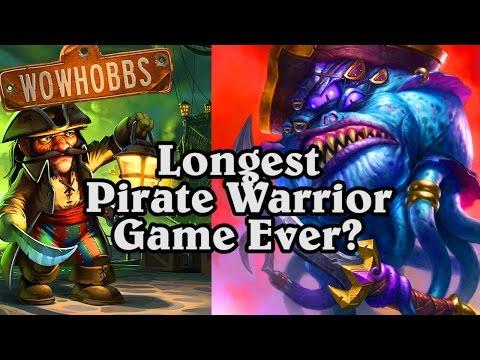 Longest Pirate Warrior Ever? ~ Mean Streets of Gadgetzan ~ Hearthstone