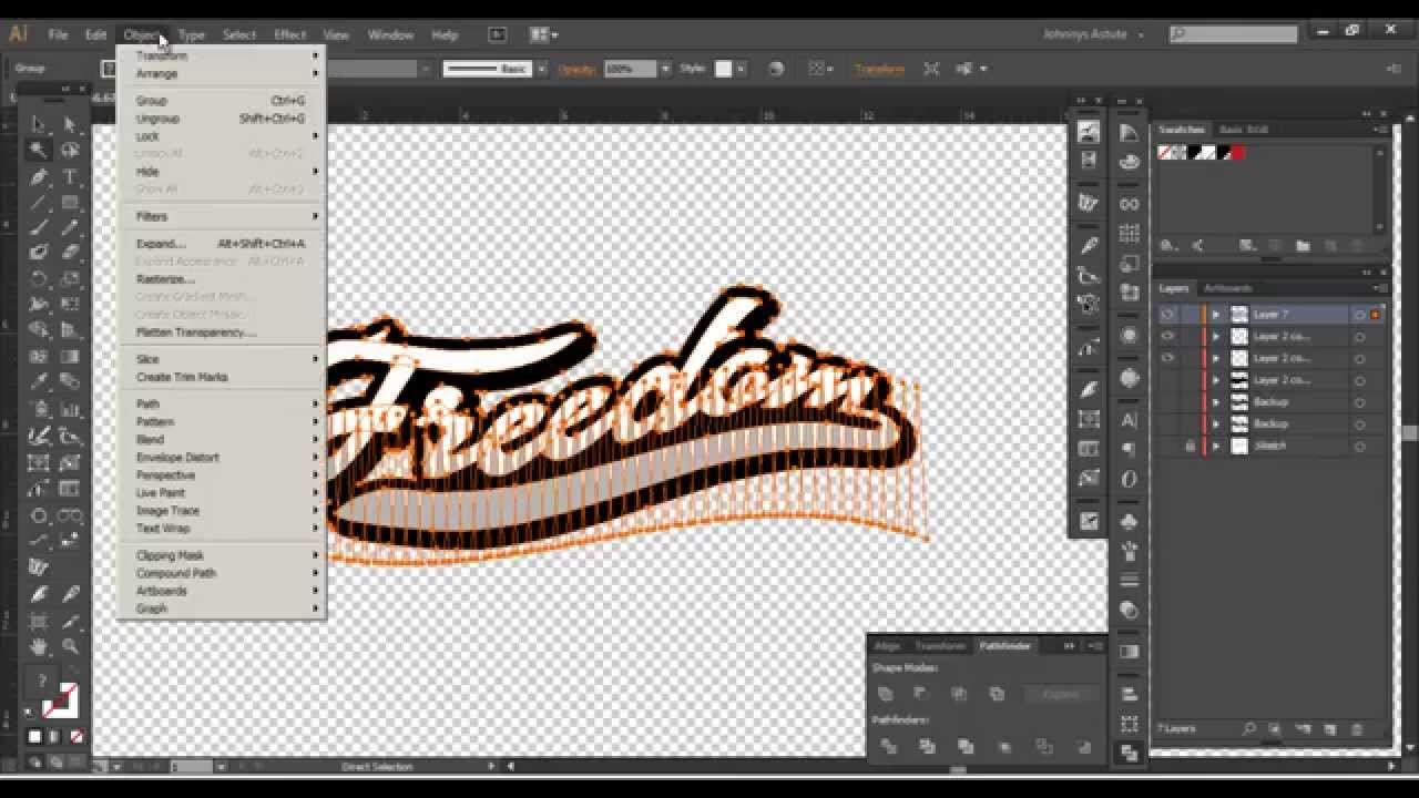 Photoshop Illustrator Custom Script Lettering Font Tutorial