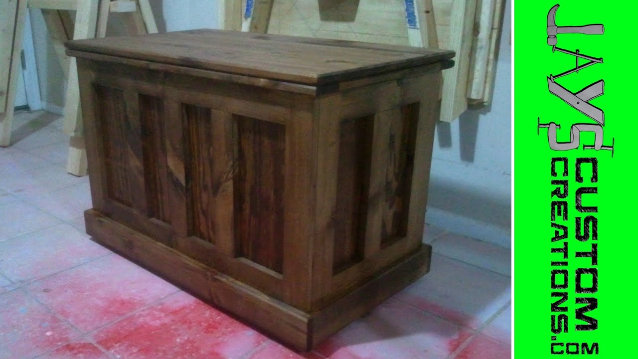 Build A Blanket Chest Video 4   010   YouTube