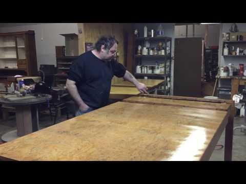 refinishing-a-john-widdicomb-burl-dining-table