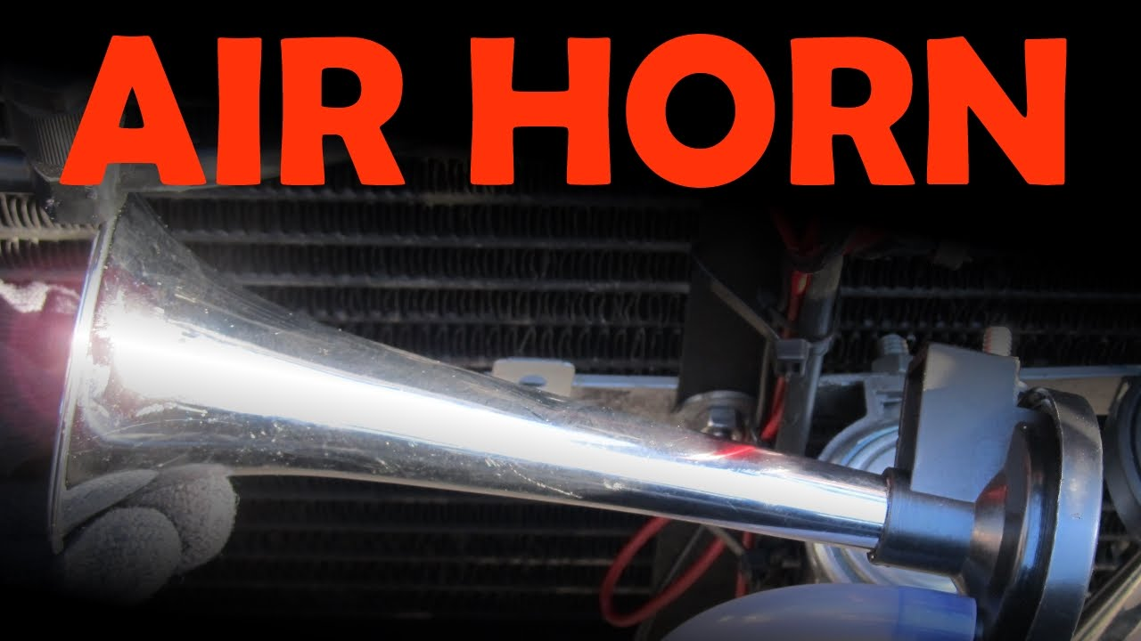 hight resolution of air horn installation