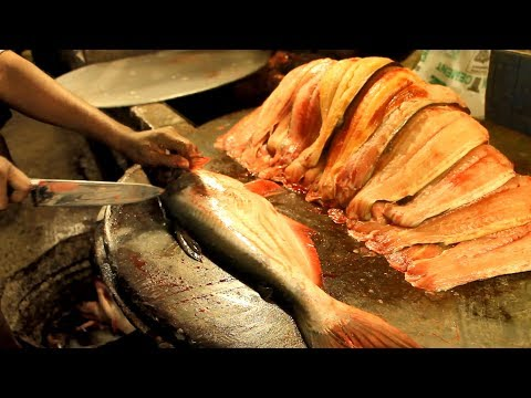 Amazing Pangasius Fish Cutting | How To Fillet A Fish | Big Pangas Basa Fish Cutting