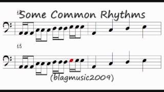 Music Theory - Reading Rhythm Notation (Bass Clef)