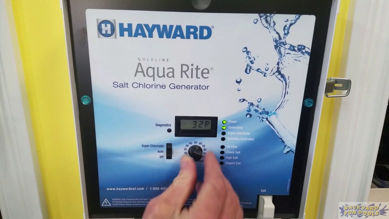 Hayward Aqua Rite Chlorine Generator Salt Cell Information Youtube Wiring Diagram