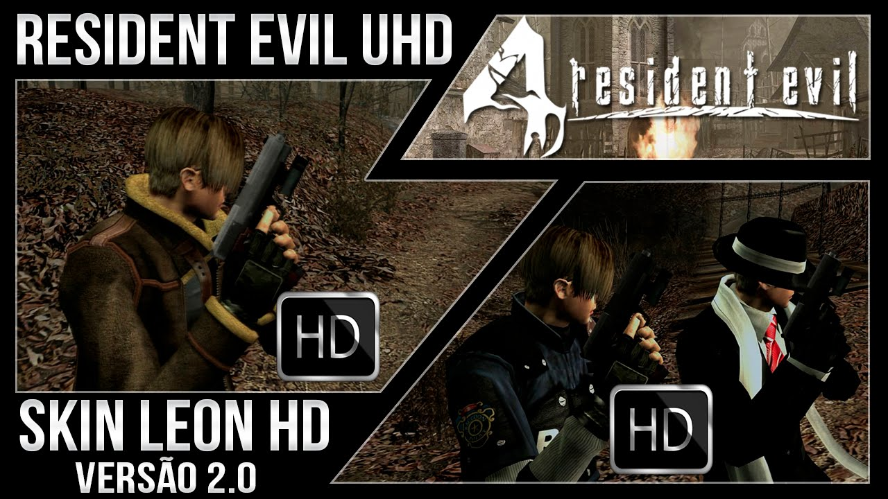 Resident Evil 4 Ultimate HD PC - Mod Skin Leon HD 2 0
