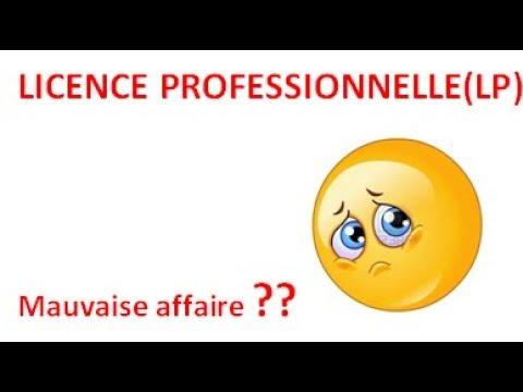 Licence Professionnelles en France!!!n'est pas la bonne formation!!?pourquoi!!!