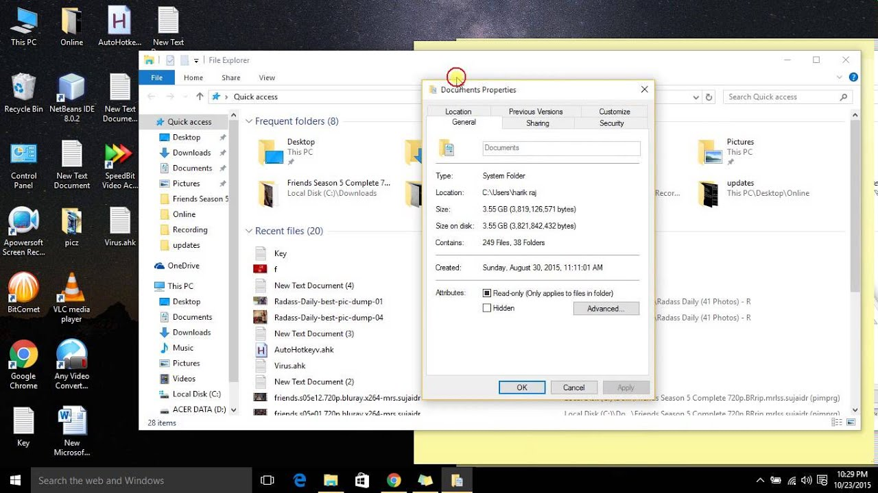 How to Redirect Folders to Other Drives in Windows 8 1 or Windows 10