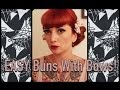 EASY vintage hair: buns with bows in under 5 minutes by CHERRY DOLLFACE