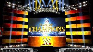 WWE-Clash of Champions 2017 Pyro Animation + AJ Styles & Kevin Owens Eingang