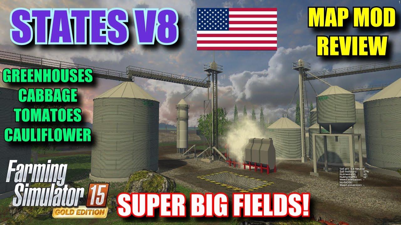 Farming Simulator 2015 Mod Review States V8 Map Mod Review