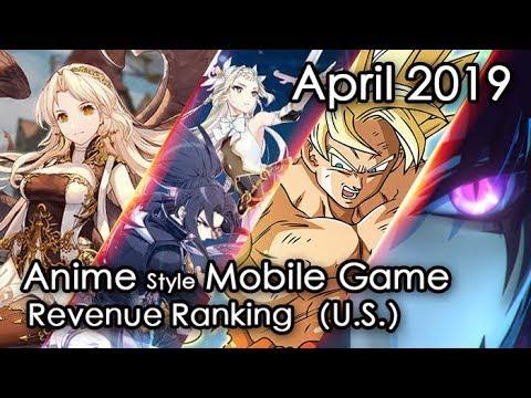 Apr.2019 Anime Mobile Game Revenue Review (U.S. Region)