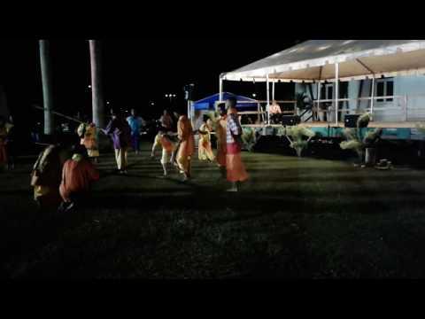 Hot Hawaiian night Kauai county building
