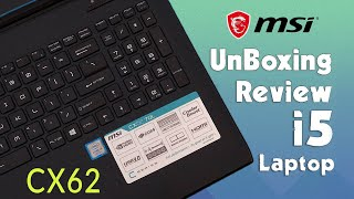 MSI CX62 7ql i5 7th gen Gaming Laptop REVIEW - UNBOXING