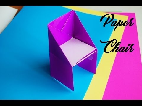 HOW TO MAKE ORIGAMI CHAIR | DIY |  CRAZY CRAFT STUFFS