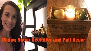 Declutter and organize your house// Fall Decor On A Budget 2018//Dining Room