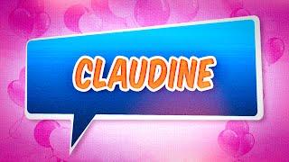 Joyeux anniversaire Claudine