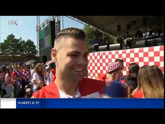 HRT: Doček za izbornika Dalića u rodnom Livnu #2